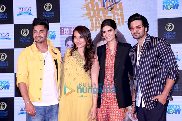 Sonakshi Sinha, Diana Penty and Ali Fazal grace the trailer launch of Happy Phirr Bhag Jayegi