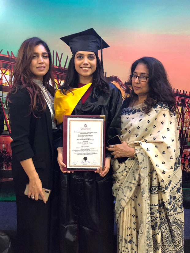 Bhumi takes a day off, rushes to Delhi for sister's convocation!