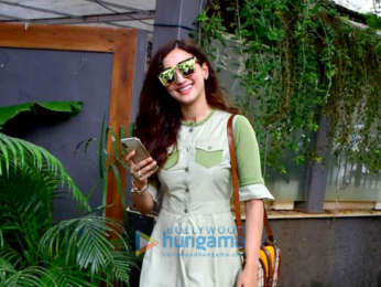 Gauahar Khan spotted at a cafe in Bandra