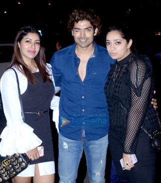 Gurmeet Choudhary snapped with wife at BKC