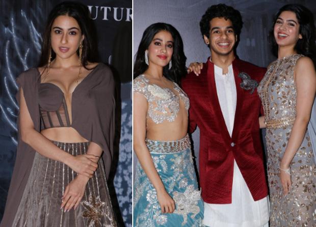 Millennials Sara Ali Khan, Janhvi Kapoor, Khushi Kapoor and Ishaan Khatter can't stop chatting at Manish Malhotra's show