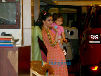 Soha Ali Khan and daughter Inaaya Naumi snapped at Saif Ali Khan's residence in Bandra