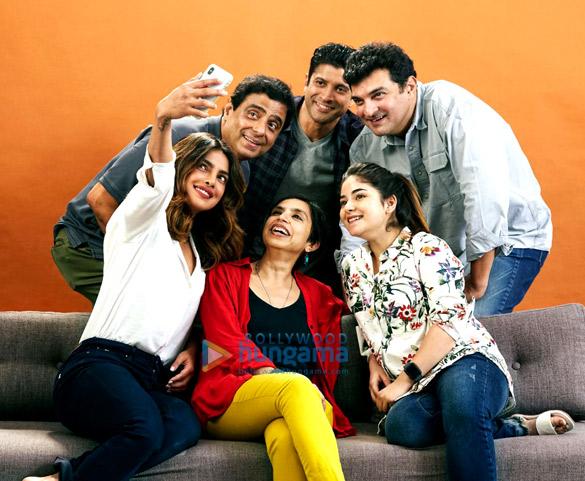 Priyanka Chopra, Farhan Akhtar and Zaira Wasim begin filming for Shonali Bose's next