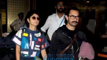 Aamir Khan and Kiran Rao snapped at the airport