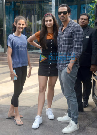 Arjun Rampal spotted with daughters at BKC