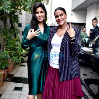 Katrina Kaif and Neha Dhupia spotted before the shoot of #NoFilterNeha Season 3