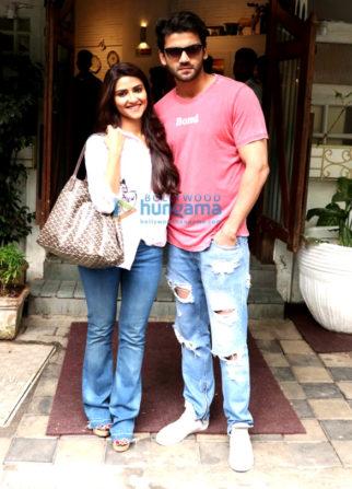 Salman Khan's soon to be launched pair Zaheer Iqbal & Pranutan Bahl snapped in Mumbai