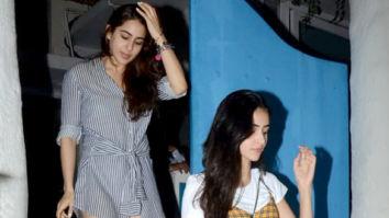 Sara Ali Khan and Ananya Pandey spotted at Olive in Bandra