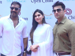 Ajay Devgn as Chief Guest at the opening of new Restaurant