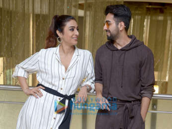 Ayushmann Khurrana and Tabu snapped promoting AndhaDhun in Delhi