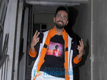 Ayushmann Khurrana snapped promoting his film Badhaai Ho