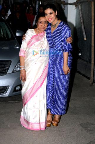 Kajol and Asha Bhosle snapped in Mumbai