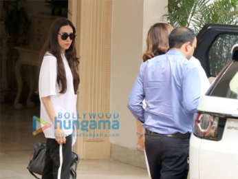 Karisma Kapoor and Anil Kapoor's wife Sunita Kapoor snapped at the Kapoor's house in Chembur