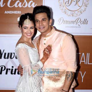 Prince Narula and Yuvika Chaudhary's mehendi ceremony