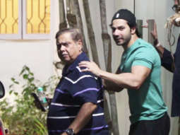 SPOTTED Varun Dhawan with Girlfriend Natasha,David Dhawan to Watch Movie