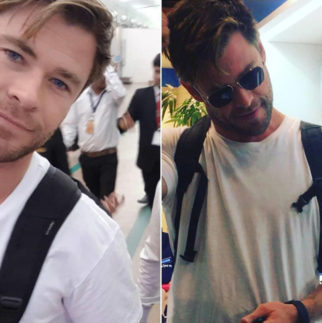 Thor aka Chris Hemsworth arrives in Ahmedabad to shoot Netflix film with Manoj Bajpayee and Randeep Hooda