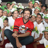 Kartik Aaryan spotted spending Children's Day with kids from Smile Foundation at Smaaash