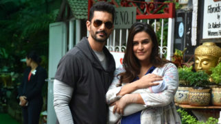 SPOTTED Neha Dhupia and Angad Bedi with their new born baby Mehr Dhupia-2