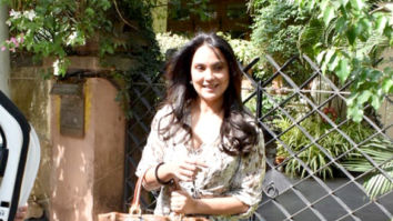 Lara Dutta snapped at a salon in Bandra