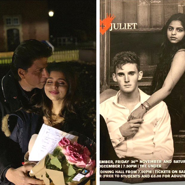 Shah Rukh Khan poses with his JULIET Suhana Khan, brims with pride as he watches her play