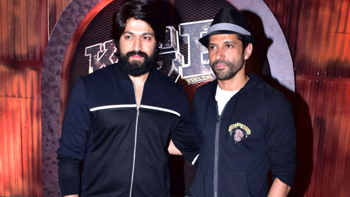 South actor Yash and Farhan Akhtar grace the trailer launch of the film KGF